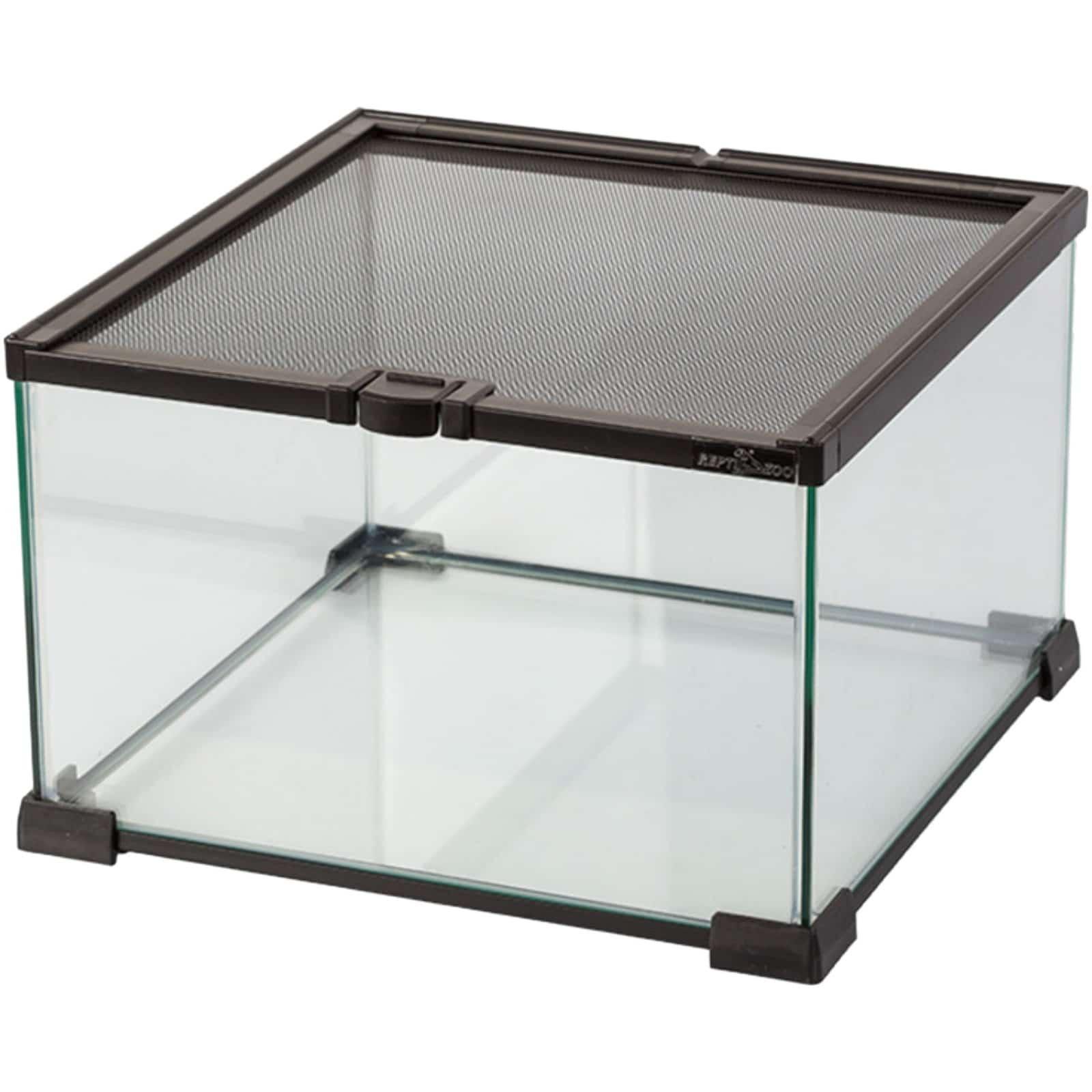Repti Zoo Mini Glass Reptile Habitat 31 X 31 X 20cm Black Terrarium Aquarium Central
