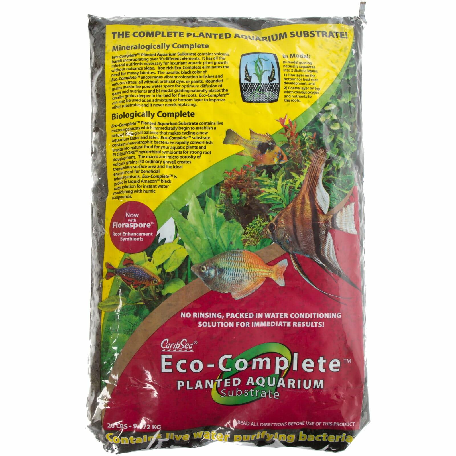Carib Sea Eco Complete Planted Aquarium Substrate Black 9 1kg 20lbs Gravel Aquarium Central